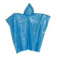 "Regenponcho blau-transparent ""Autumn"