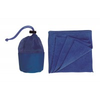 "Microfasertuch in Tasche""cleaner"",Blau"