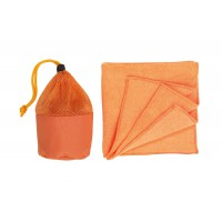 "Microfasertuch in Tasche""cleaner"",Orange"